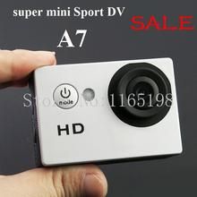 2 inch cheap mini sports Camera 720P HD A7 Extreme Action Camera Diving 30M Waterproof mini Sports DV free shippment