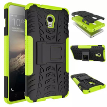 For Lenovo Vibe P1 Cover with Stand Holder TPU & PC Dual Hard Silicone Armor Shock Proof Anti-Skid Case For Lenovo Vibe P1 Phone