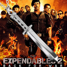 Hot!!!!!Expendables stallone dagger necklace Swagger off evil sword pendant male money