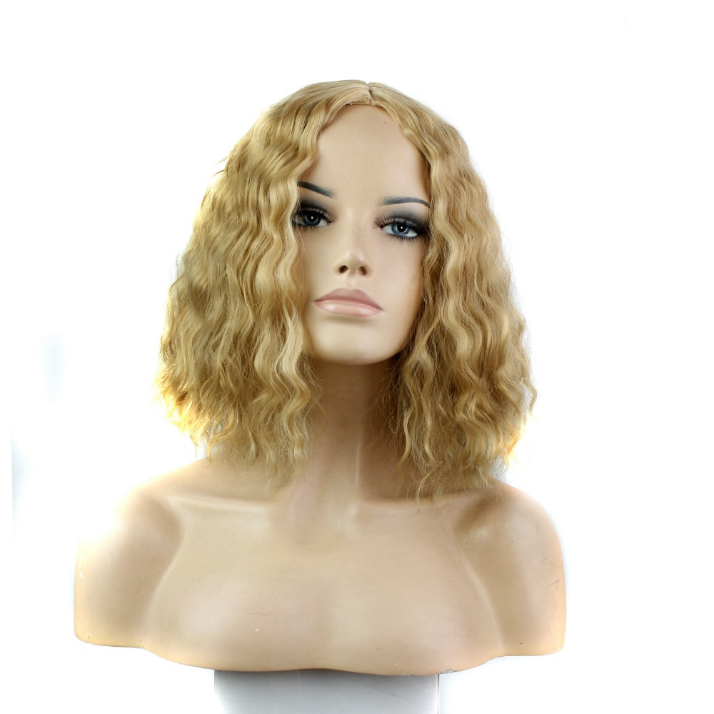 Heat Resistant African American Synthetic Hair Wigs 27-613# Blonde Corn Hair Afro Kinky Curly Wig for Black Women Free Shipping<br><br>Aliexpress