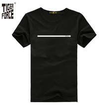 TIGER FORCE 2017 Famous Brand Men Fashion T-shirt 95%Cotton 5%Spandex O-Neck Casual Men tshirt Design Rock Free Shipping TF-2057(China)
