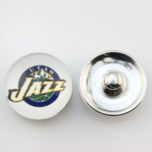 Fashion Basketball NBA Utah Jazz Snap Button Sports Charms for DIY 18mm Snap Bracelet Jewelry 10pcs/lot