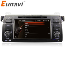 "Eunavi 7"" HD Touch Screen single 1 din Car DVD Player GPS Navigation for BMW E46 3 Series M3 Bluetooth Radio USB IPOD Free Map"