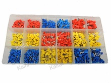 990pcs Copper Crimp Connector Insulated Cord Pin End Terminal Ferrules kit set Wire terminals connector