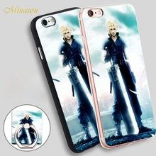 Minason Final Fantasy Advent Children Soft TPU Silicone Phone Case Cover for iPhone X 8 5 SE 5S 6 6S 7 Plus(China)