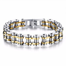 Free Shopping Biker 316L Stainless Steel Mens Bracelet Fashion Sports Jewelry Bike Bicycle Chain Link Bracelet Casual Jewellery