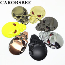 Buy CARORSBEE Cool Metal Skull Skeleton Devil Chrome Auto Emblem Badge Decal computer Motorcycle motocross Car Stickers Accessories for $1.44 in AliExpress store