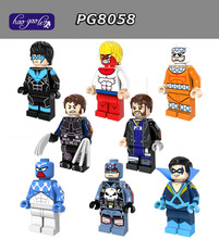 Hao Gao Le 10sets PG8058 Super Hero Marvel Wolverine Captain Punisher SpiderMan NightWing Captain Boomerang Building Blocks Toys