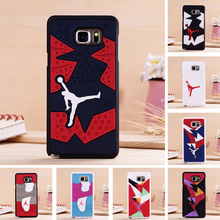 New Arrival 3D Air Jordan Shoe Sole PVC+Rubber Case For Samsung Galaxy Note5 N9200, Luxury AJ jumpman Back Cover Phone Cases