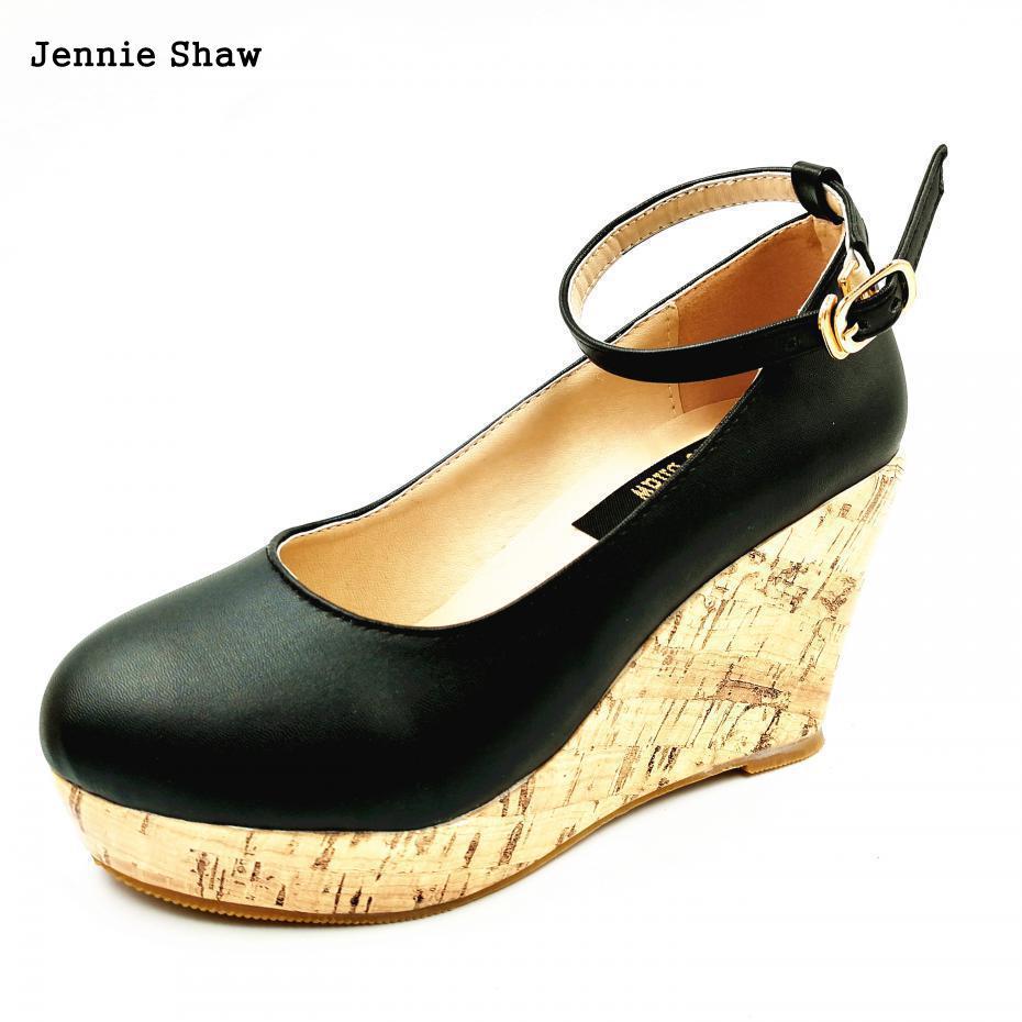 elegant Small size womens wedges platform shoes 30 31 32 33 40 41 42 43<br>