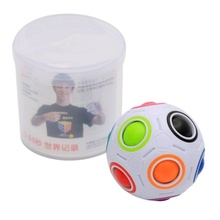 Spherical Magic Cube Speed Rainbow Ball Football Puzzles Fun Creative Kids Educational Learning Toys for Children Adult Gifts