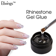 Ellwings Gel Varnish Glue Rhinestone UV Adhesives Super Sticky Professional Gel Nail Polish Clear Lacquer Nails Diamond Tool(China)
