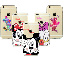 Buy Cute Lovely Cartoon Minnie Mickey Mouse Case coque iphone 8 7 6s plus 5 5S SE Phone Cases Snow White Mermaid Silicone Covers for $1.08 in AliExpress store