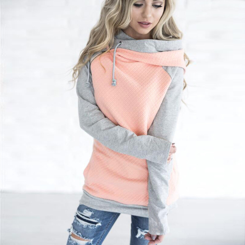 New Double Hood Sweatshirt, Women's Long Sleeve, Side Zipper Hooded Casual Pullover 2