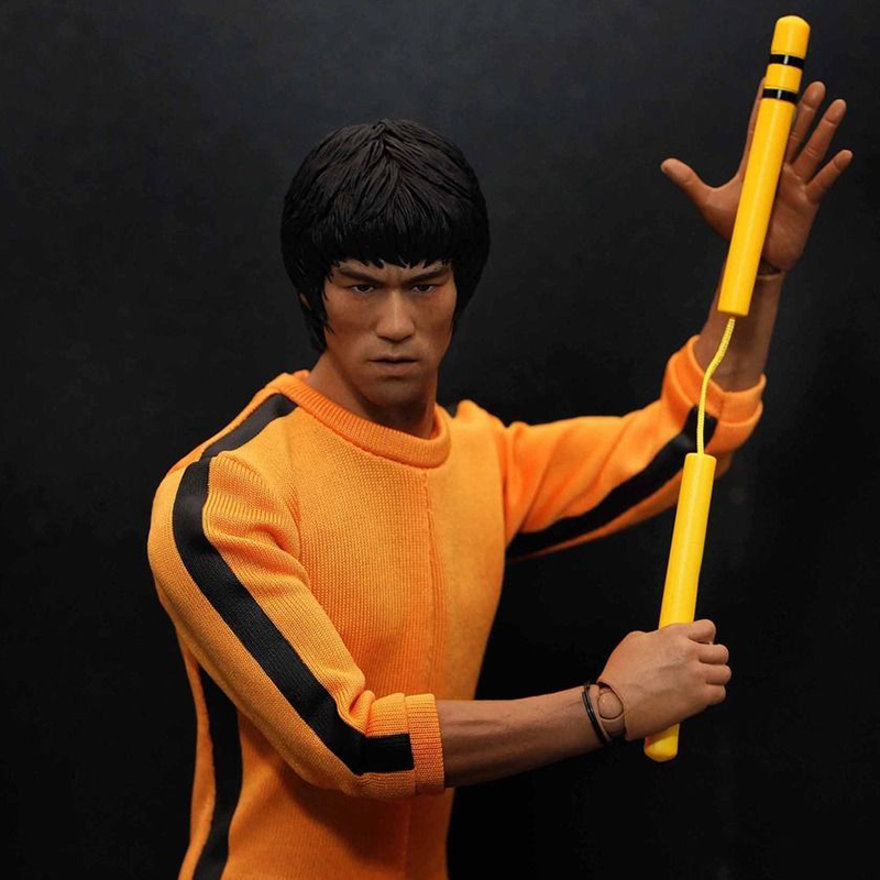 Custom 1/6 Scale Bruce Lee Head Sculpt For Hot Toys Figure Body for 12″ Action Figure doll Toys soldier model