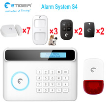 Smart home safty guard mobile APP controlled Security alarm system GSM burglar for home & office(China)