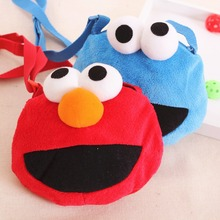 Free shipping Sesame Street Elmo funny bag Satchel Messenger BAG Kindergarten Shoulder BAG