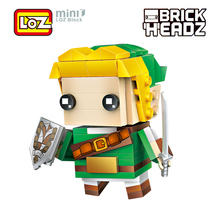 LOZ Link The Legend of Zelda Game Brick Head Action Figure Toy Mini Building Blocks 154pcs For Ages 6+ Offical Authorized 1424(China)