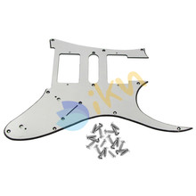 NEW Aluminium Plated Surface Electric Guitar Pickguard HSH 9Hole Plate w/ Screws for RG Open Style