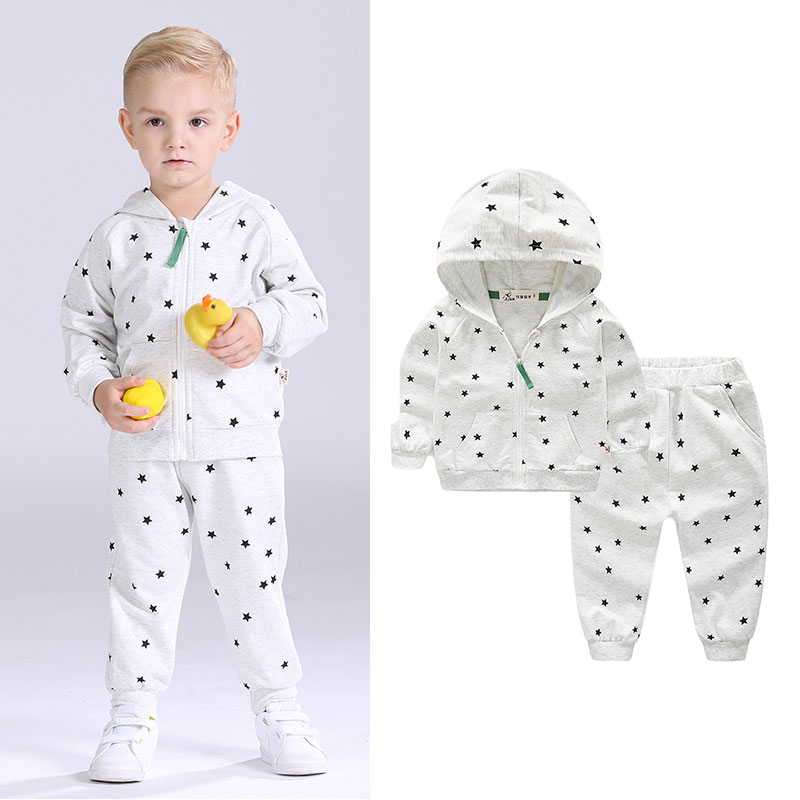 I.K Baby Boys Tracksuits Brand 2017 Spring Autumn Fashion Clothing With Star Printing Children Cotton Sport Suits Sets AS1002<br>