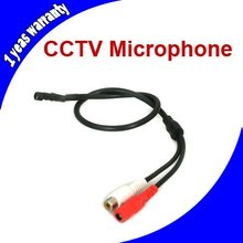 Mini Audio CCTV Microphone Mic RCA Output for CCTV Security Camera or DVR System