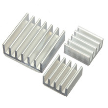 10set 30pcs/lot Adhesive Aluminum Heatsink Radiator Cooler Kit For Cooling Raspberry Pi New Heat Sink Fans Free Shipping