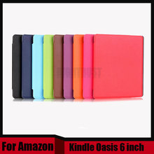Magnet flip pu leather Sleep/wake up case cover For Amazon Kindle Oasis case 6 inch for kindle oasis reader cover ebook case