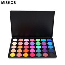 Miskos 35 Colors Eyeshadow Palette Silky Powder Professional Make up Pallete Product Cosmetics Makeup Eye Shadow 35E(China)