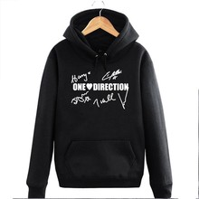 1D Harry Liam Niall Tomlinson signature One Direction couple clothes man cotton hoodies(China)