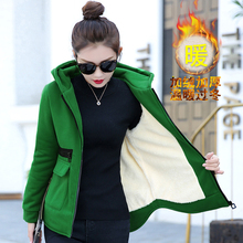 Buy new women's clothing fall winter hooded fleece loose leisure velvet zipper long-sleeve hoodies sweatshirt casual clothes for $33.50 in AliExpress store