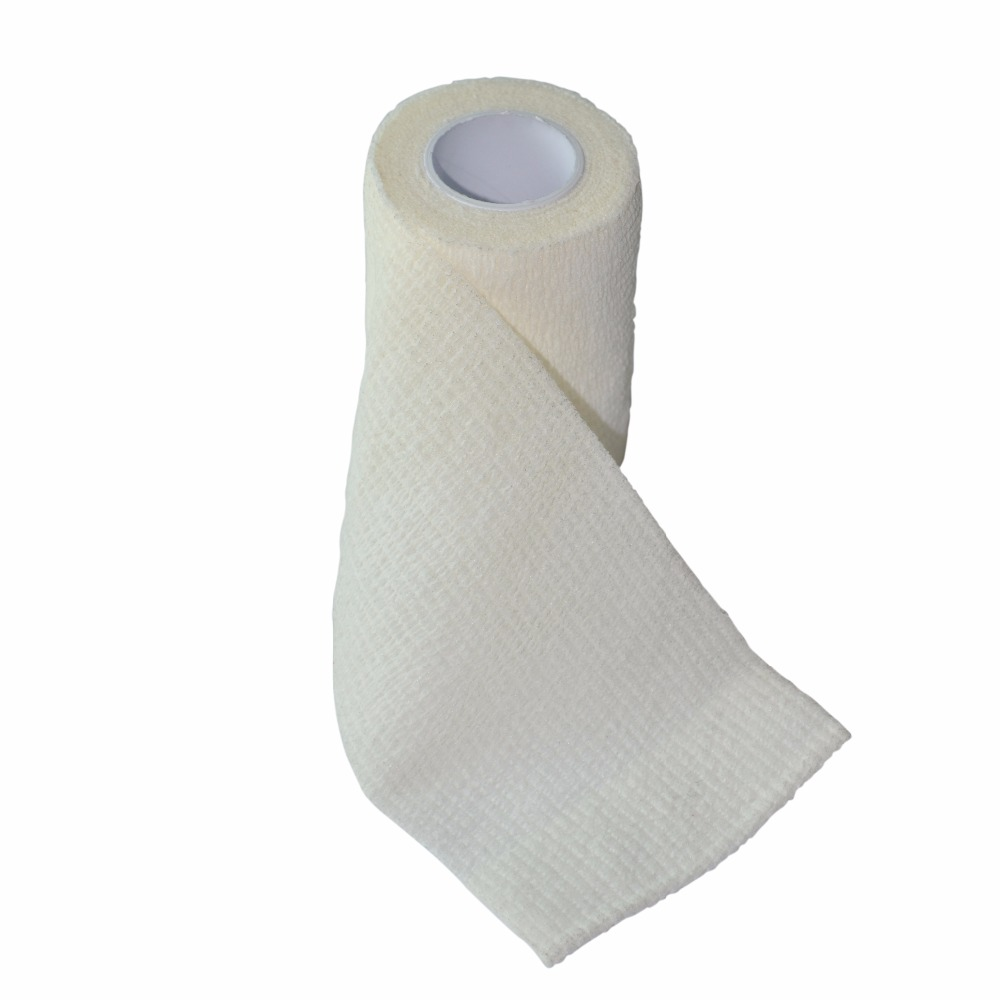 24Pcs/Lot 7.5cm x 4.5m Self Adhesive Elastic Nonwoven Cohesive Bandage Adherent Wrap White Strap Tape<br>
