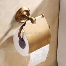 Free Shipping Promotion 2pcs a lot Vintage Antique Toilet Paper Holder Brass Tissue Holder Bathroom Accessories Products ZR2021