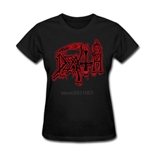 DEATH Class Logo T Shirt ROCK BAND HEAVY METAL Tee Shirts Womens Short Sleeve High Quality Shirts O-Neck Lady Cheap T Shirts