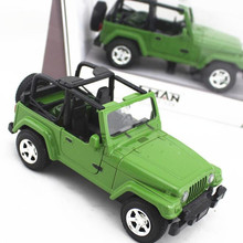 Best gift lighting music Convertible Wrangler Robin Hood Jeep SUV Zinc alloy car model(China)
