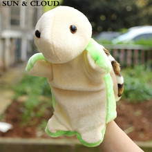 SUN & CLOUD 1 Pcs Soft Finger Puppet Turtle Animal Pattern Finger Puppet Good Toys Hand Puppet for Baby's Gift Puppet(China)