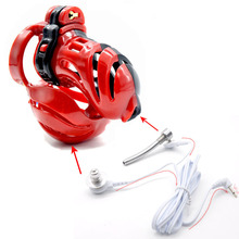 Buy 2018 Newest male chastity cage scrotum bondage ball stretcher penis cage bird lock cock cages chastity devices ballstretcher