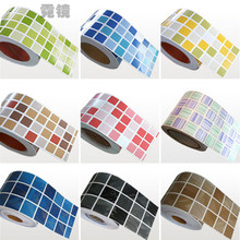 5M Waist Line Wall Sticker Kitchen Waist Line Adhesive Bathroom Toilet Waterproof Pvc Wallpaper Mosaic Tiles Stickers GPD8208