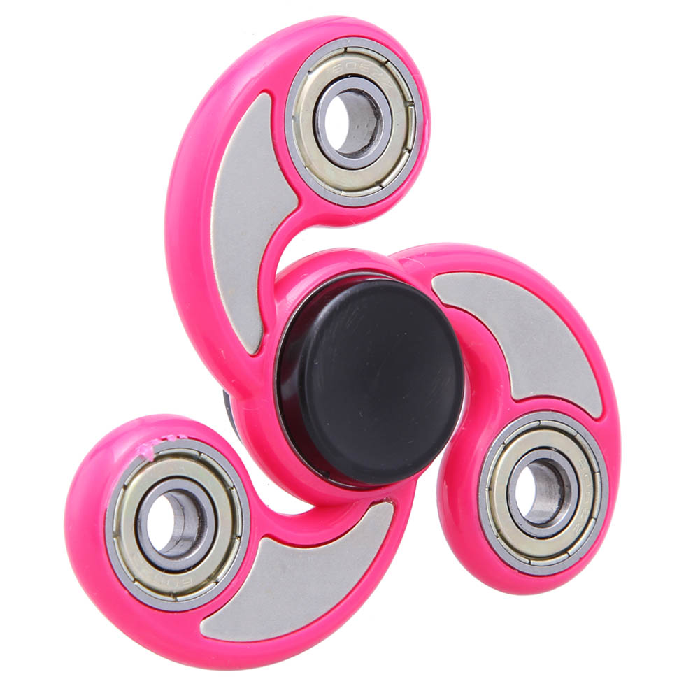 6 Colors Fidget Spinner Finger ABS EDC Hand Spinner Tri Kids Autism ADHD Anxiety Stress Relief Focus Handspinner Toys Gift