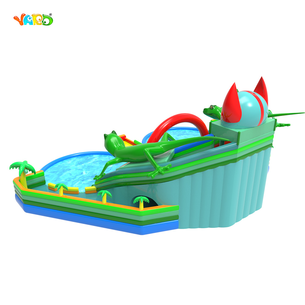9326 Inflatable Water Slide with Pool 6