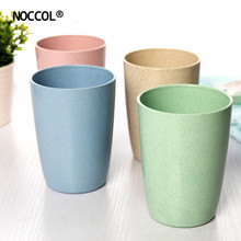 NOCCOL 4 PC/Set Healthy Mug Solid Color Coffee Mugs Simple Creative Water Bottles Home Travel Drinkware Gift Wholesale(China)