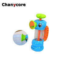 Baby Water Toys Hippocampus Style Bath Toys Pool Spraying Tool For Children Bathroom Games Kids Shower Water Toys(China)