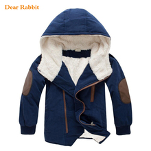 2017 new spring Autumn kids boys outerwear hooded coat top quality thick wadded jacket parkas child clothing girls clothes