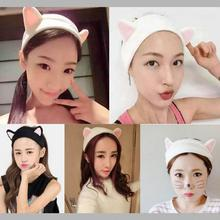 7colors New arrival lovely cat ear Wash Face Helper headband hair accessary