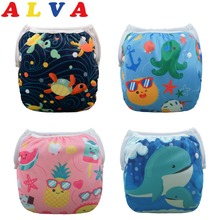 U Pick 1pc 2017 Alvababy Reusable Swim Diaper Swimsuit Washable Swim Diapers Pool Pants Adjustable(China)