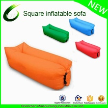 Wholesale newest and comfortable nylon fabric folding air couch bed banana and square shapes hangout sofa