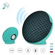 Mini Portable Cloth Bag Design Wireless Bluetooth Speaker Stereo Bass Loudspeaker Outdoor Music Player With Mic Support TF Card(China)