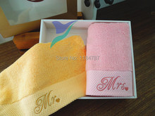 Personalized Face Towel, plus 2 Hand Towel for Lovers Thickening 100% Cotton Romantic Gift Adults Towel Mr,Mrs Toalha