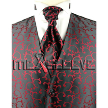Wholesale cheap men's suits high quality fancy swirl waistcoat 4pcs(China)