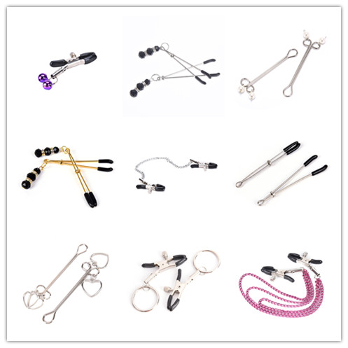 Nipple Clamps With Metal Chain Flirting Teasing Sex Flirt Kit Nipple Clamps Slave Exotic Accessories Bdsm Milk Clip Breast Clip