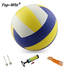 Free Shipping Official Size 5 PU Volleyball Match Volleyball Indoor Outdoor Training ball With Free Gift Needle ball pump